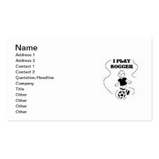 Camisetas y regalos del fútbol del juego del mucha plantillas de tarjeta de negocio