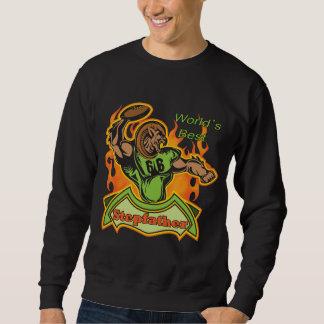 Camisetas y regalos del fútbol del padrastro sudaderas encapuchadas