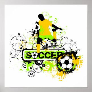 Camisetas y regalos del fútbol póster