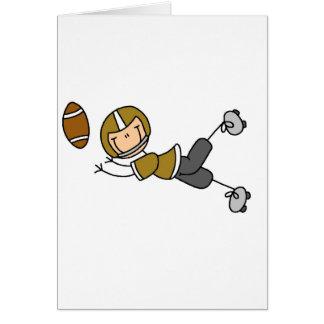 Camisetas y regalos del futbolista del oro tarjeta de felicitación