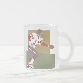 Camisetas y regalos del futbolista taza de cristal