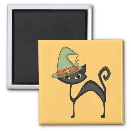 Camisetas y regalos del gato de Halloween Imán Cuadrado