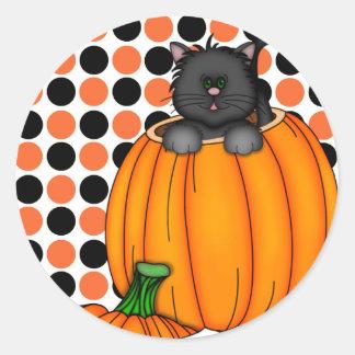 Camisetas y regalos del gato de Halloween Etiqueta