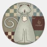 Camisetas y regalos del gato del niño etiqueta redonda