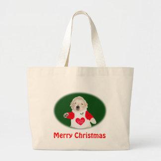 Camisetas y regalos del golden retriever del navid bolsas