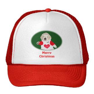 Camisetas y regalos del golden retriever del navid gorras de camionero
