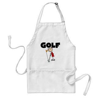 Camisetas y regalos del GOLF de los chicas Delantales