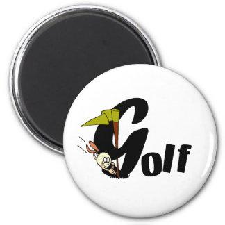Camisetas y regalos del golf imán redondo 5 cm
