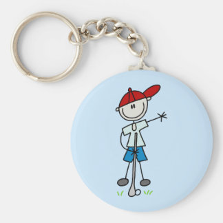 Camisetas y regalos del golfista del muchacho llavero redondo tipo pin