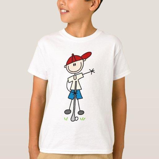 Camisetas y regalos del golfista del muchacho remeras