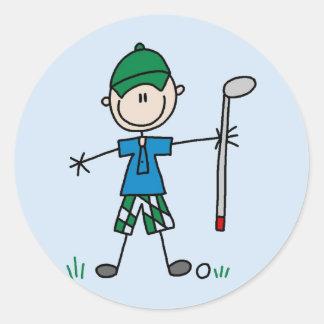 Camisetas y regalos del golfista pegatina redonda