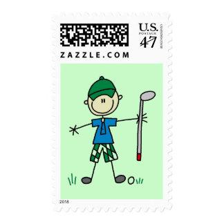 Camisetas y regalos del golfista timbre postal