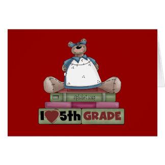 Camisetas y regalos del grado del amor del oso 5ta felicitación