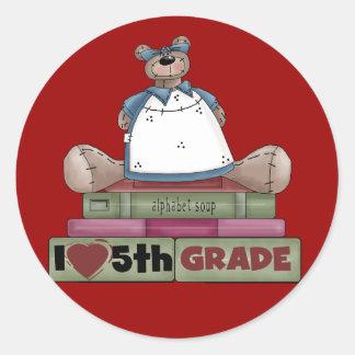 Camisetas y regalos del grado del amor del oso pegatina redonda