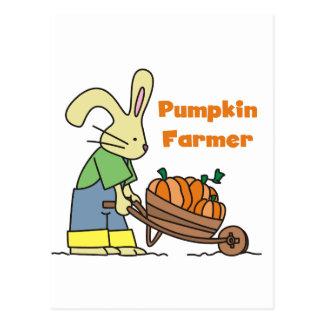 Camisetas y regalos del granjero de la calabaza tarjetas postales