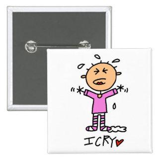 Camisetas y regalos del grito de la niña I Pin Cuadrado