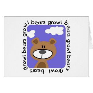 Camisetas y regalos del gruñido de los osos tarjeta de felicitación