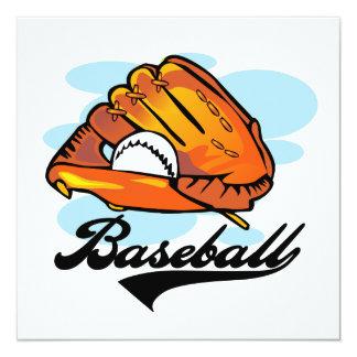 """Camisetas y regalos del guante de béisbol invitación 5.25"""" x 5.25"""""""