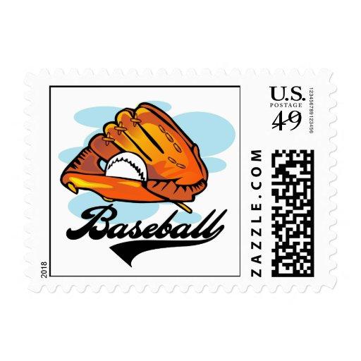 Camisetas y regalos del guante de béisbol sellos