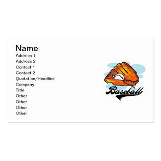 Camisetas y regalos del guante de béisbol plantilla de tarjeta de visita