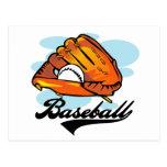 Camisetas y regalos del guante de béisbol tarjetas postales