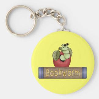 Camisetas y regalos del gusano de libro llaveros personalizados