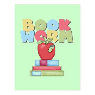 Camisetas y regalos del gusano de libro tarjetas postales