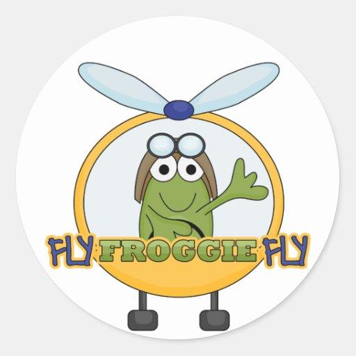 Camisetas y regalos del helicóptero de la mosca de pegatina redonda