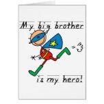 Camisetas y regalos del héroe de hermano mayor felicitación