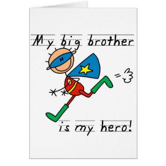 Camisetas y regalos del héroe de hermano mayor tarjeta de felicitación
