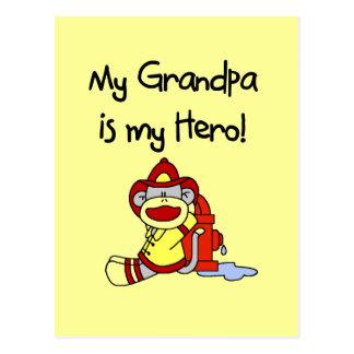 Camisetas y regalos del héroe del abuelo del tarjetas postales