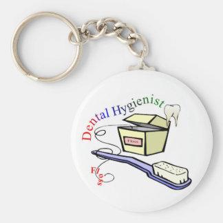 Camisetas y regalos del higienista de Dential Llavero Redondo Tipo Pin