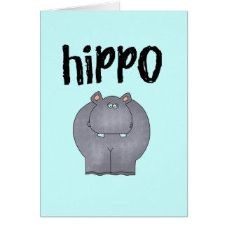 Camisetas y regalos del hipopótamo tarjeton