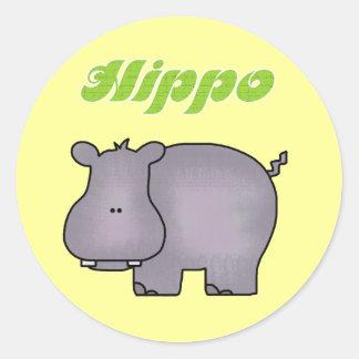 Camisetas y regalos del Hippopotamus Etiqueta Redonda