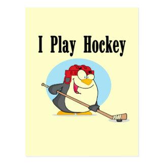 Camisetas y regalos del hockey del pingüino postales