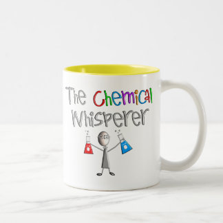 Camisetas y regalos del humor de los químicos taza dos tonos