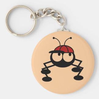 Camisetas y regalos del insecto del béisbol llavero redondo tipo pin