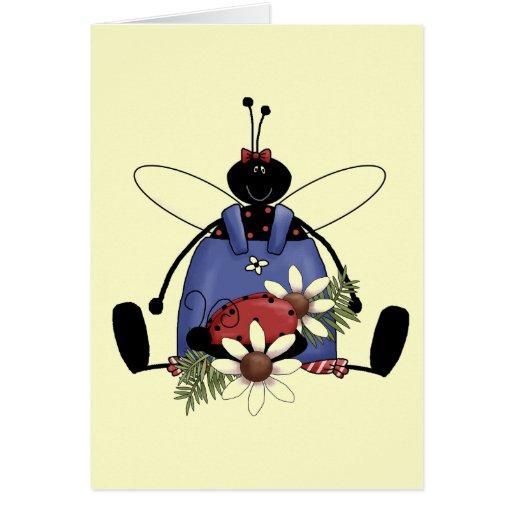 Camisetas y regalos del jardín de la mariquita tarjeta de felicitación
