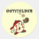 Camisetas y regalos del jardinero del béisbol pegatina redonda