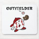 Camisetas y regalos del jardinero del béisbol tapetes de ratones