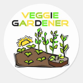 Camisetas y regalos del jardinero del Veggie Etiquetas Redondas