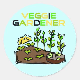 Camisetas y regalos del jardinero del Veggie Pegatinas Redondas