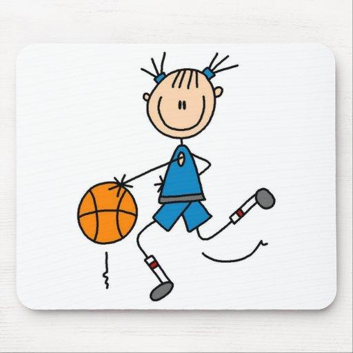 Camisetas y regalos del jugador de básquet del chi alfombrillas de raton