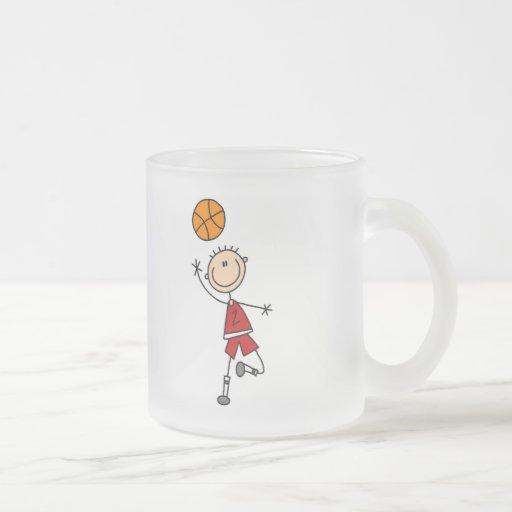 Camisetas y regalos del jugador de básquet del taza cristal mate