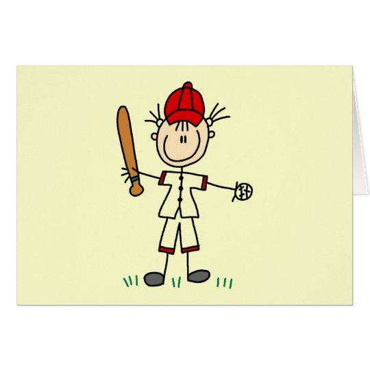Camisetas y regalos del jugador de béisbol del chi tarjeta de felicitación