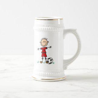 Camisetas y regalos del jugador de fútbol del jarra de cerveza