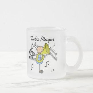 Camisetas y regalos del jugador de la tuba taza de cristal