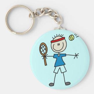 Camisetas y regalos del jugador de tenis del mucha llaveros personalizados