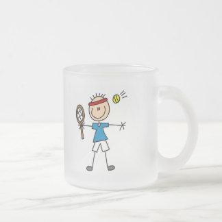 Camisetas y regalos del jugador de tenis del taza de cristal