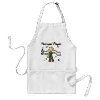 Camisetas y regalos del jugador de trompeta delantal